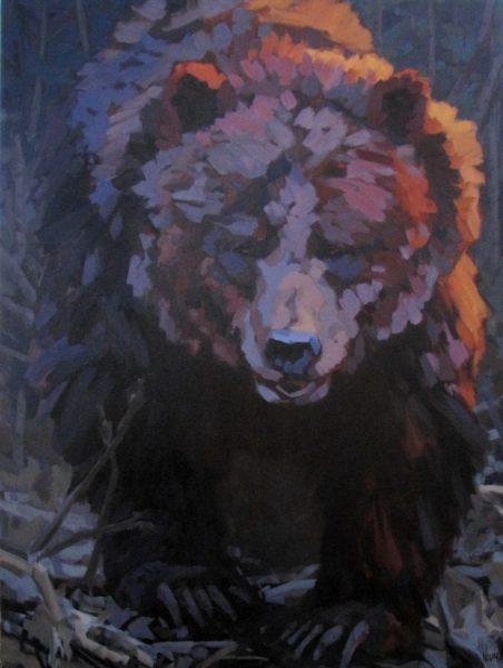 Erica_Neumann_grizzly_bear_painting_wildlife