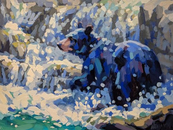 Hot_Day_in_Waterton_Black_Bear_painting_Neumann_web